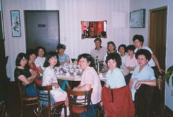 Photo of people in restaurant