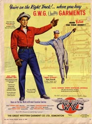 GWG advertisement featuring railway workers