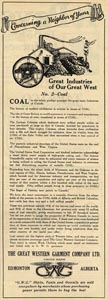 GWG advertisement about coal mining