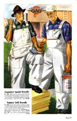 GWG advertisement for carpenters overalls