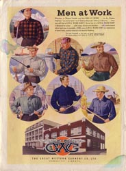 GWG advertisement for men's work clothes