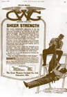 Advertisement for strong overalls